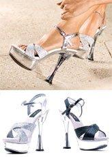 Glitter Cone Heels - 2