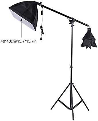 GOWE 3pcs Softbox Tripod Stand 45W 135W Bulb Cantilever with Oxford Bag