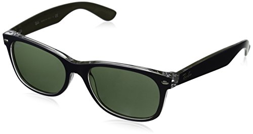 Gafas de Wayfarer sol Blue New And para Transparent Ban hombre Multicolor 6188 Ray AWBRTqSwn