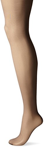 - Hanes Silk Reflections Women's High Waist Control Top Sandalfoot Pantyhose, Barely Black, A/B