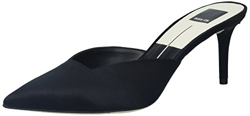 Dolce Vita Women's Rhyme Mule, Black Satin, 8 Medium (Kitten Mule)