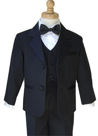 Gino Giovanni Boy Usher Tuxedo Suit Set black