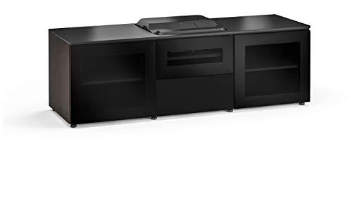 (Salamander Chameleon Oslo 236 Cabinet for Integrated Epson LS100 Projector - Black Glass UST Projector Integrated Cabinet with Speaker Integration)