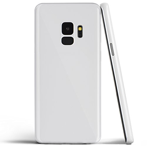 (totallee Galaxy S9 Case, Thinnest Cover Premium Ultra Thin Light Slim Minimal Anti-Scratch Protective - for Samsung Galaxy S9 (Jet White))