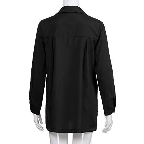 Col Dcontracte Blouse Femmes Irrgulier Sweatshirts Chemise Overmal Rond Top paule Longue Chic T Unie Crop Sexy Automne Mode Vetements Manches et Lache Couleur Shirt Top Haut Noir t aqwwdSgx