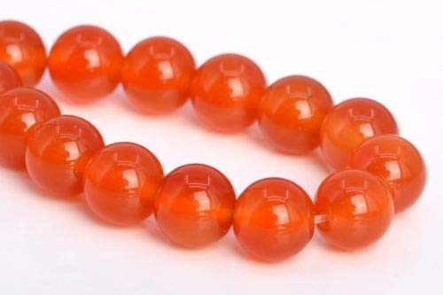8mm Natural Orange Red Carnelian Grade Round Gemstone Loose Beads 7.5'' Crafting Key Chain Bracelet Necklace Jewelry Accessories Pendants