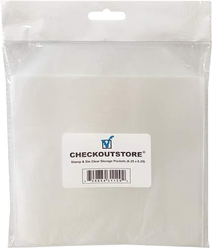 CheckOutStore 200 Stamp /& Die Clear Storage Pockets 6.25 x 6.25