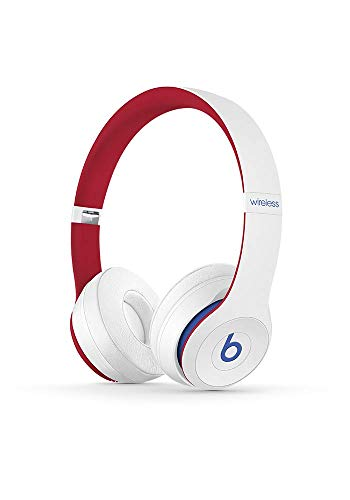 Beats Solo3 Wireless On-Ear Headphones – Apple W1 Headphone Chip, Class 1 Bluetooth, 40 Hours Of Listening Time – Club White (Latest Model)
