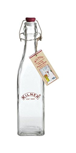 12 x Kilner Clip Top Glass Preserve Storage Bottle Oil Food Dressing 0.55 Litre