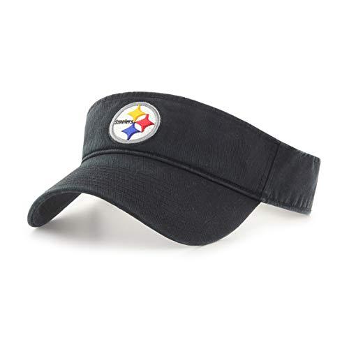 (OTS NFL Pittsburgh Steelers Male Visor, Black, One Size)