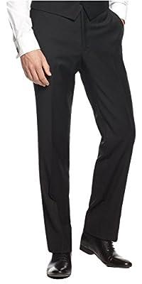 Calvin Klein Men's Slim Fit Flat Front Dress Pants 32W x 30L Black