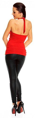 Camiseta Top Verano Mujer Zeta Jersey 167z Rosso Halter Ville xnZvqTPO