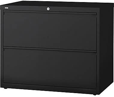 Staples Hl8000 Commercial 30 Wide 2 Drawer Lateral File Cabinet Black Amazon Co Uk Office Products
