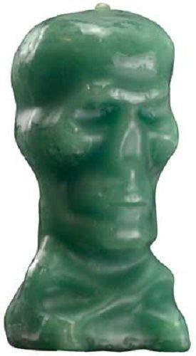 Green 5'' Skull Image Candle (Wicca Spell Pagan Hoodoo Halloween) ()