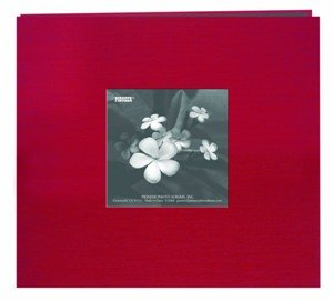 Pioneer Silk Fabric Frame Memory Album with Solid Color Cover, 8