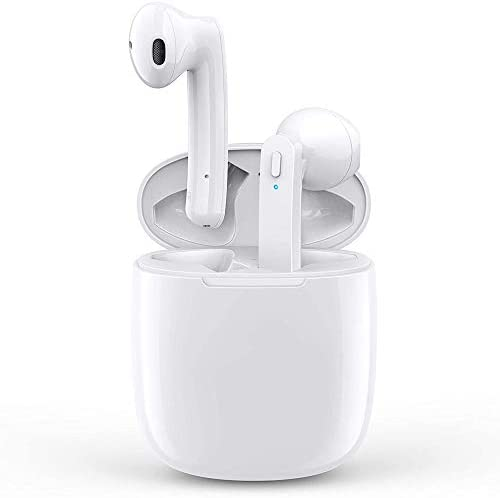 Wireless Earbuds Bluetooth 5.0 Wireless Headphones Built in Mic in Ear Noise Cancelling Headsets with Charging Case IPX5 Waterproof Sports Earphone for Apple Airpods/iPhone/Android/Samsung