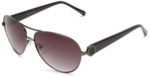 Ivanka Trump It 028 30 Aviator Sunglasses,Gunmetal,58 mm from Ivanka Trump