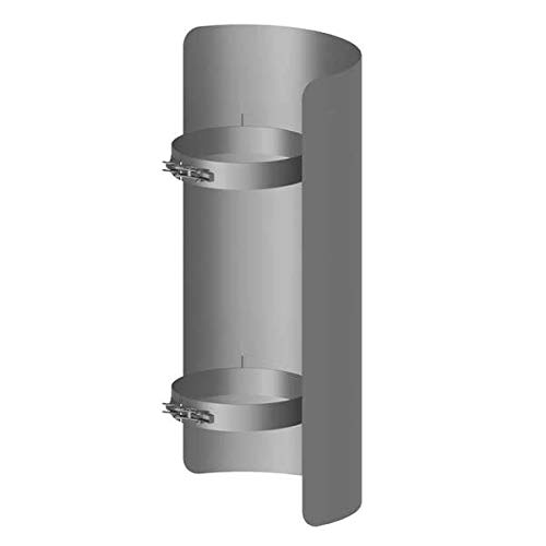 Ø 150 mm Ofenrohr Strahlungsschutz 25 cm Gussgrau EHV GmbH
