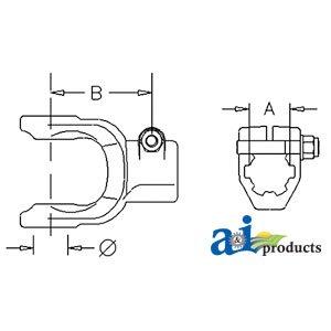 bondioli-pavesi-bush-hog-rotary-cutter-implement-yoke-splined-w-interfering-taper-pin-part-no-a-bp50