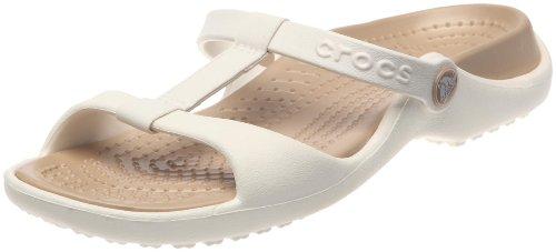 51c31bfabdbf0 Crocs Cleo III Ladies Fashion Mules 11216 10 B(M) US Oyster Gold ...