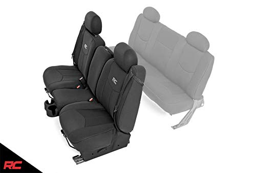 Rough Country Neoprene Seat Covers Front Black Compatible w/ 1999-2006 Chevy Silverado 1500 91013 Water Resistant