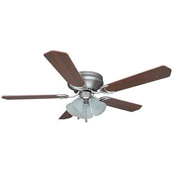 Harbor Breeze Centreville 52 In Brushed Nickel Indoor Flush Mount Ceiling Fan With Light Kit