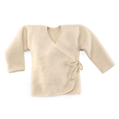LANACARE Organic Wool Baby Sweater, Natural White, size 74 (6-9 mo) by LANACare