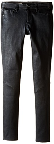 - AG Adriano Goldschmied Women's The Legging Super Skinny Leather, Black, 27