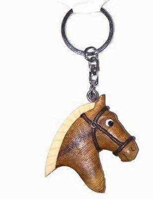 * Llavero en forma de cabeza de caballo de madera Tashuunka Geschenkartikel