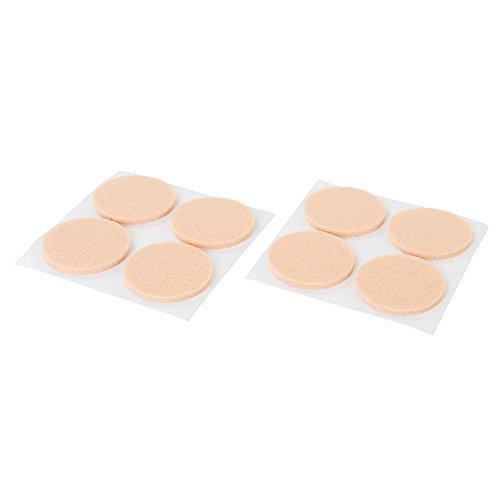 Fixman 621423 8 mm x 38 mm 4 - Piece Self Adhesive Felt Pad Protectors by FIXMAN