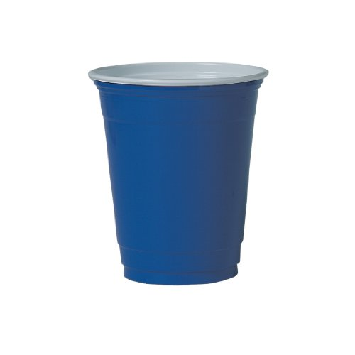SOLO Cup Company P12SB Plastic Party Cold Cups, 12-14 oz, Blue (Case of 1000)