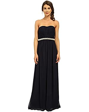 Women's Strapless Gown with Beading at Waist CD6B13N6