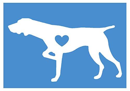 - EZ-STIK German Shorthaired Pointer Little HeartJ609 6 inch dog decal sticker