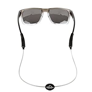 Rec-Strapz Sunglasses / Eyewear Retainer System for Active Lifestyles - Made in USA - Patent Pending Design – Universal fit for any Eye Glasses / Sunglasses - Silver Standard
