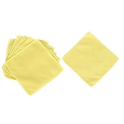 DealMux del parabrisas del coche de lavado de toallas amarillas Cleaner 6 piezas