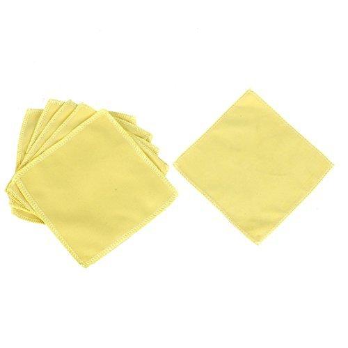 Amazon.com: eDealMax del parabrisas del coche de Lavado de toallas amarillas Cleaner 6 piezas: Automotive
