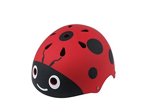 Yunqir Children Ladybug Helmet Cute Street Bike Helmet Cartoon Riding Helmet Skate Helmet(Red) by Yunqir