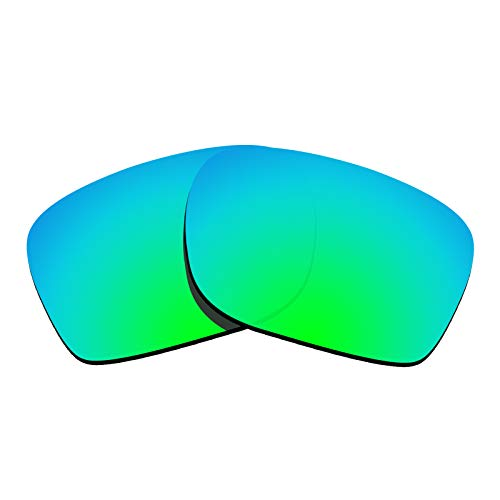 Glintbay 100% Precise-Fit Replacement Sunglass Lenses for Oakley Mainlink - Polarized Green ()