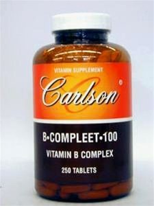 Carlson Labs vitamine B-1, 100 mg, 250 comprimés