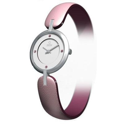 Obaku Harmony Womens Watch - Pink Band / White Face - V106LCCRPS-043