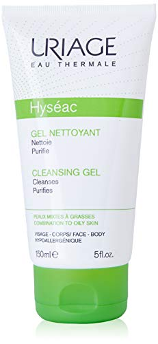 Skin Cleansing Gel Combination - Uriage Hyseac Gel Nettoyany Doux Gentle Cleansing Gel for Combination to Oily Skin 150 Ml