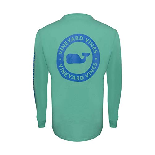 Vineyard Vines Men's Long Sleeve Cotton Graphic Pocket T-Shirt (Whale Dot Antigua, ()