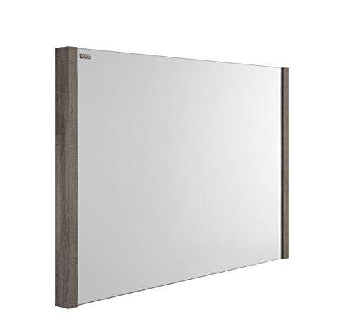 VALENZUELA Roma 48 Inch Bathroom Vanity Mirror, Wall Mount, Slim Frame, Ash Finish (VE7012090E) by DAX