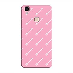 Cover It Up Pink Arrow Hard Case For Vivo V3 Max - Pink & White