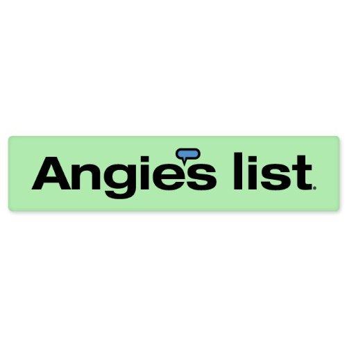Angies List Car Bumper Sticker Window Decal 8  X 2