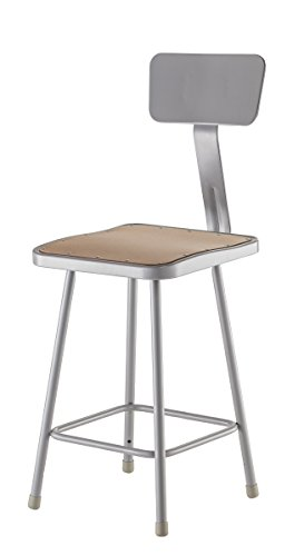 National Public Seating 24 Inch Stool - National Public Seating 6324B Steel Stool with 24
