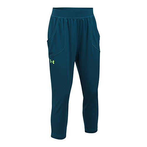Under Armour Girls' Tech Capris, True Ink/True Ink, Youth (Under Armour Tech Capri)