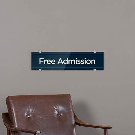 5-Pack 24x6 CGSignLab Basic Navy Premium Acrylic Sign Free Admission