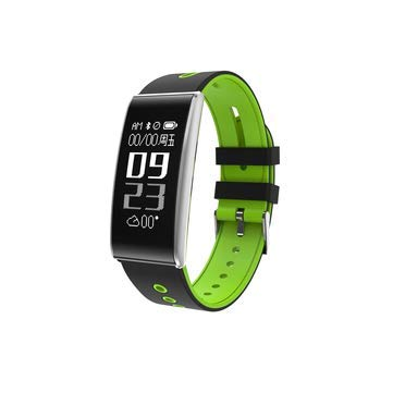 S13 Heart Rate Monitor Pedometer Bluetooth Sport Smart Bracelet For X 8 S8 6 - Smart Watch & Band Smart Wristband - (Green & Silver) ()