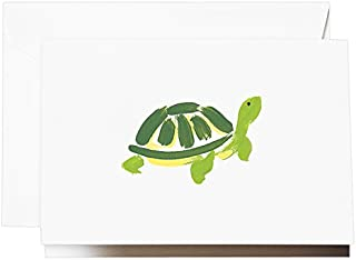 product image for Crane & Co. Brushstroke Turtle Note (CF1501)
